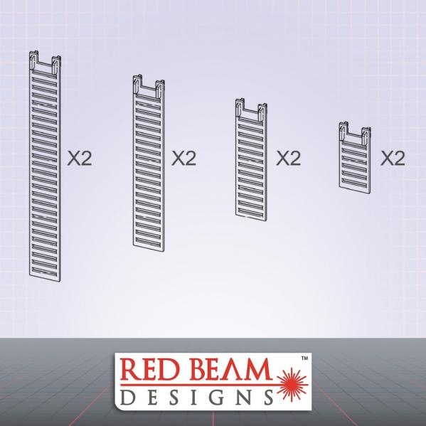 Complex Red: Clip-On Ladder Set
