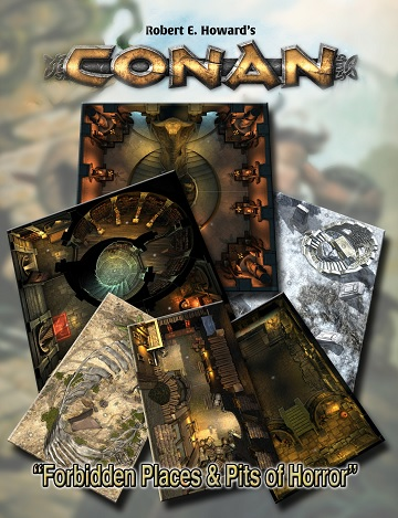 Conan: FORBIDDEN PLACES & PITS OF HORROR TILE SET