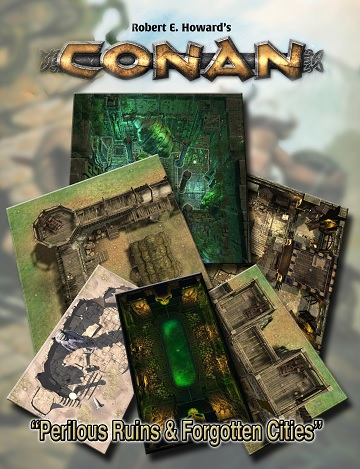 Conan: PERILOUS RUINS & FORGOTTEN CITIES TILE SET