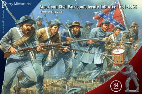 Perry: 28mm American Civil War: Confederate Infantry 1861-65