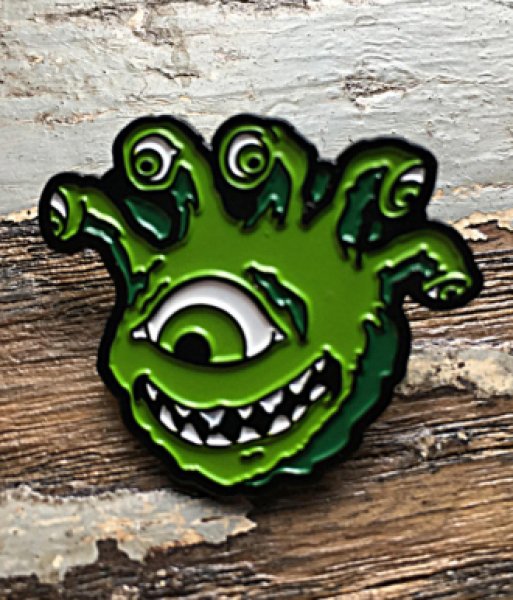 Creature Curation Enamel Pin: Eyegor (Green)
