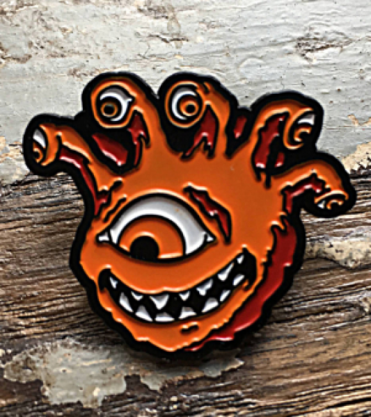 Creature Curation Enamel Pin: Eyegor (Orange)