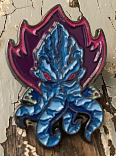 Creature Curation Enamel Pin: Space Squid (Blue)