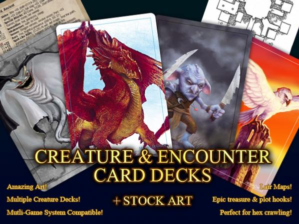 Creature & Encounter Card Decks: Dragons, Outsiders & Undead