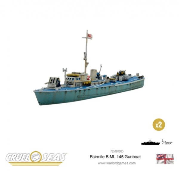 Cruel Seas: British Royal Navy: Fairmile B ML 145 Gunboat
