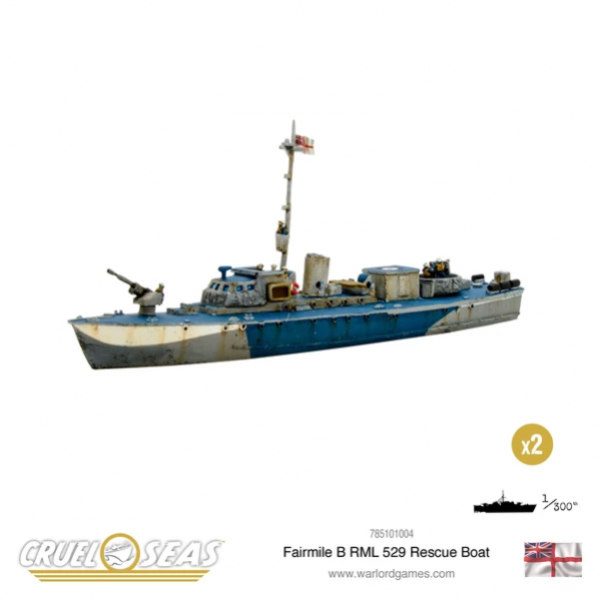 Cruel Seas: British Royal Navy: Fairmile B RML 529 Rescue Boat