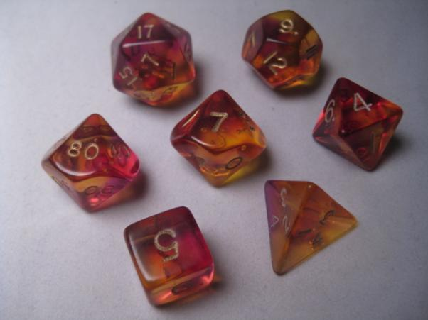 Crystal Caste: Polyhedral 7-Die Set: Firefly: Purple