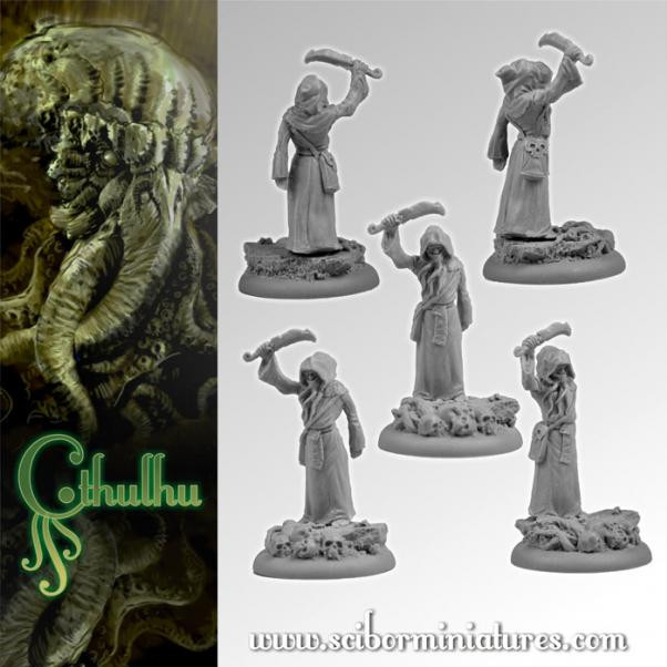 Scibor Monstrous Miniatures: Cthulhu Miniatures: Cthulhu Cultist #1