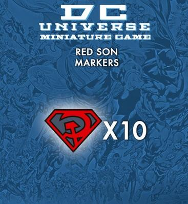 DC Universe Miniature Game: RED SON MARKERS