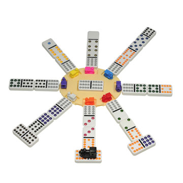 DOMINOES DOUBLE 12 MEXICAN TRAIN