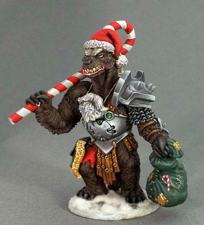 Dark Sword Miniatures: Critter Kingdoms- Christmas Honey Badger
