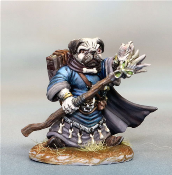 Dark Sword Miniatures: Critter Kingdoms- Pug Mage with Staff
