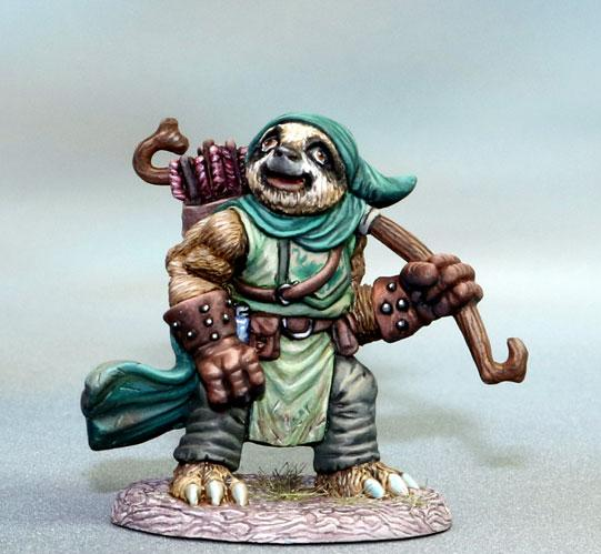 Dark Sword Miniatures: Critter Kingdoms- Sloth Ranger with Bow