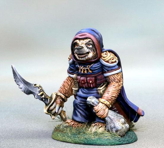 Dark Sword Miniatures: Critter Kingdoms- Sloth Rogue with Sword