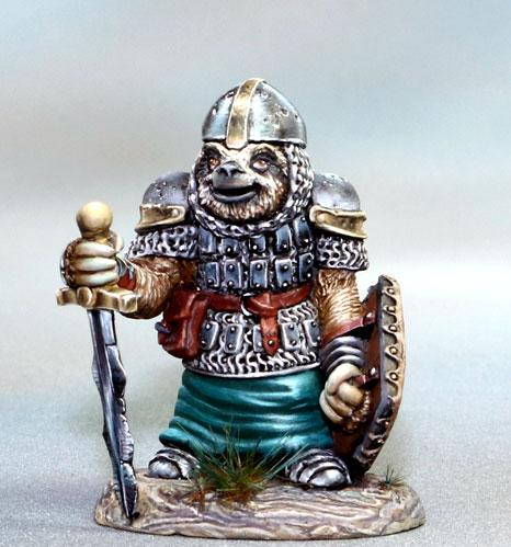Dark Sword Miniatures: Critter Kingdoms- Sloth Warrior with Sword and Shield