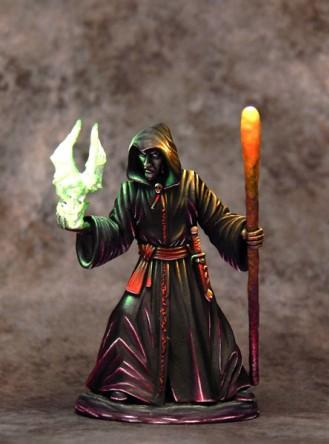 Dark Sword Miniatures: Easley Masterworks- Male Necromancer with Staff