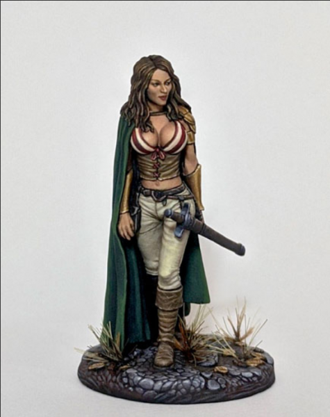 Dark Sword Miniatures: Elmore Masterwork: Female Rogue with Long Sword