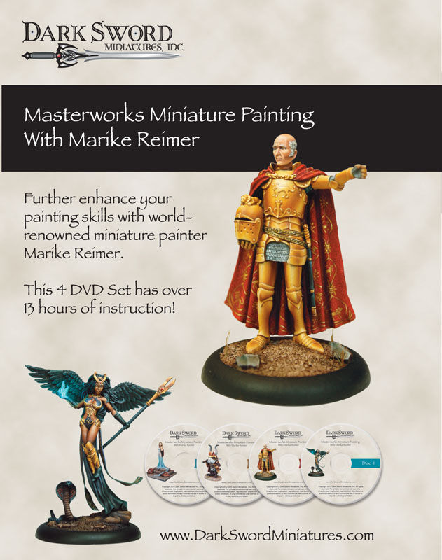 Dark Sword Miniatures: Masterworks Miniature Painting with Marike Reimer DVD Set