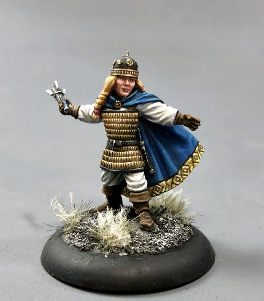 Dark Sword Miniatures: Visions in Fantasy: Female Dwarven Cleric with Mace
