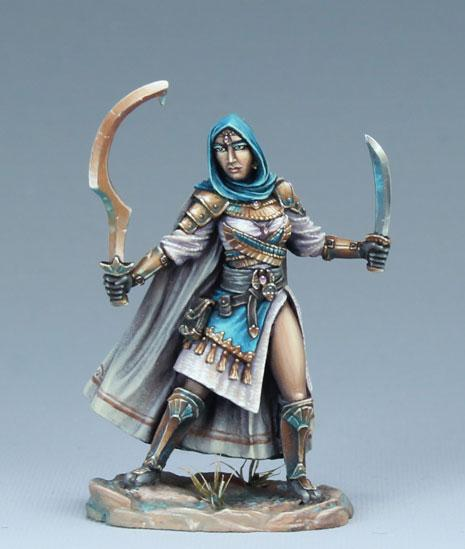 Dark Sword Miniatures: Visions in Fantasy: Female Eastern Warrior - Dual Wield