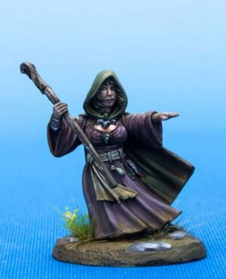 Dark Sword Miniatures: Visions in Fantasy: Female Halfling Mage with Staff