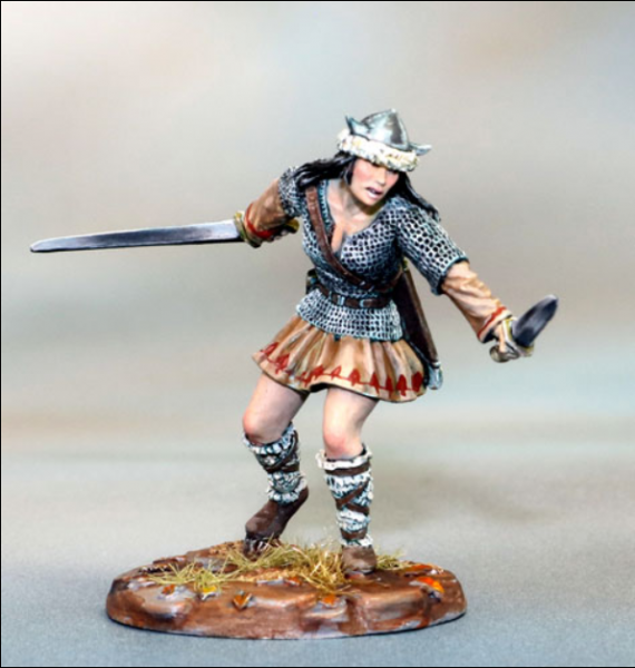 Dark Sword Miniatures: Visions in Fantasy: Female Warrior- Dual Wield