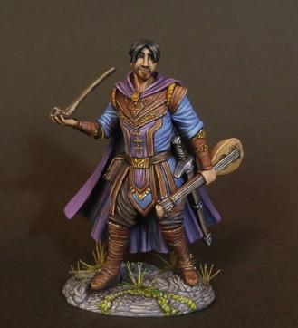 Dark Sword Miniatures: Visions in Fantasy: Male Bard with Pipe and Lute