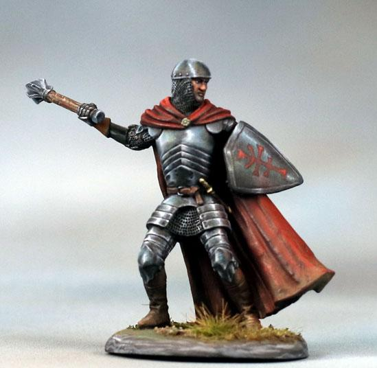 Dark Sword Miniatures: Visions in Fantasy: Male Cleric with Mace and Shield