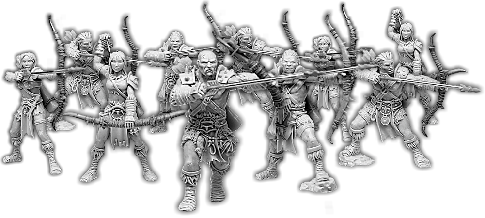 Darklands: Baarts Warband, Reiver Hunter Unit (10x Warriors with Command)