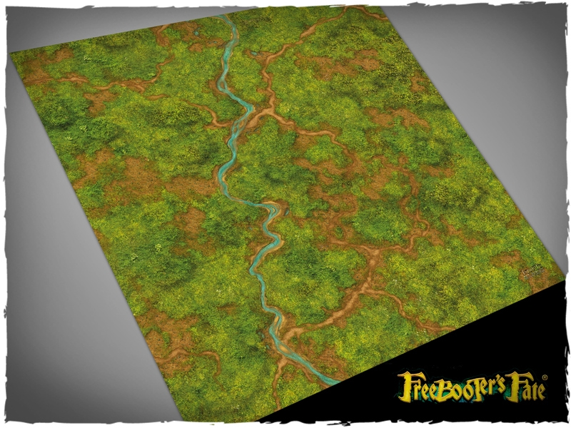 Deep Cut Studio Mat: Freebooters Fate- Jungle 3x3 (Mousepad)