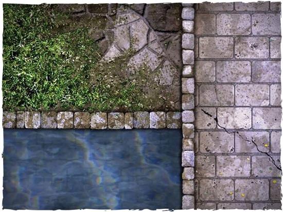 Deep Cut Studio - Deep Cut Studio Mat: Rake's Corner: 4x4' Cloth #123081