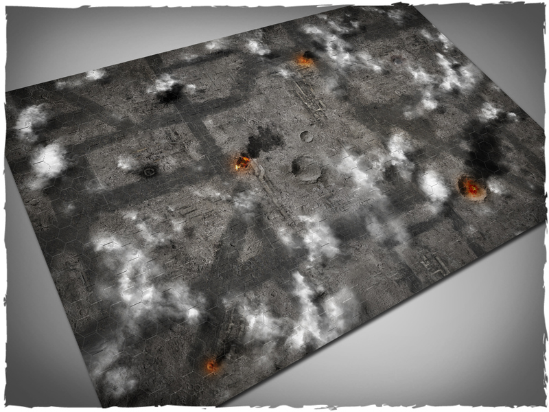 "Deep Cut Studio Mat: Scorched Sky: 4x6 -2"" Hexes (Mousepad)"