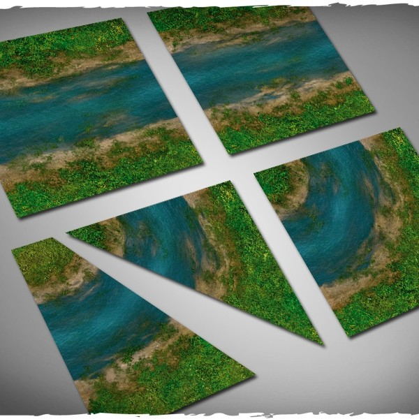Deep Cut Studio Terrain Tile: Clear River Set