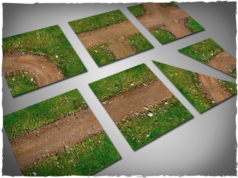 Deep Cut Studio Terrain Tile: Dirt Path Set