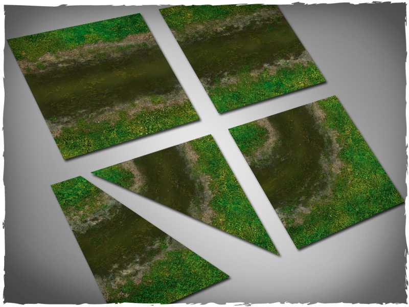 Deep Cut Studio Terrain Tile: Dirty River Set