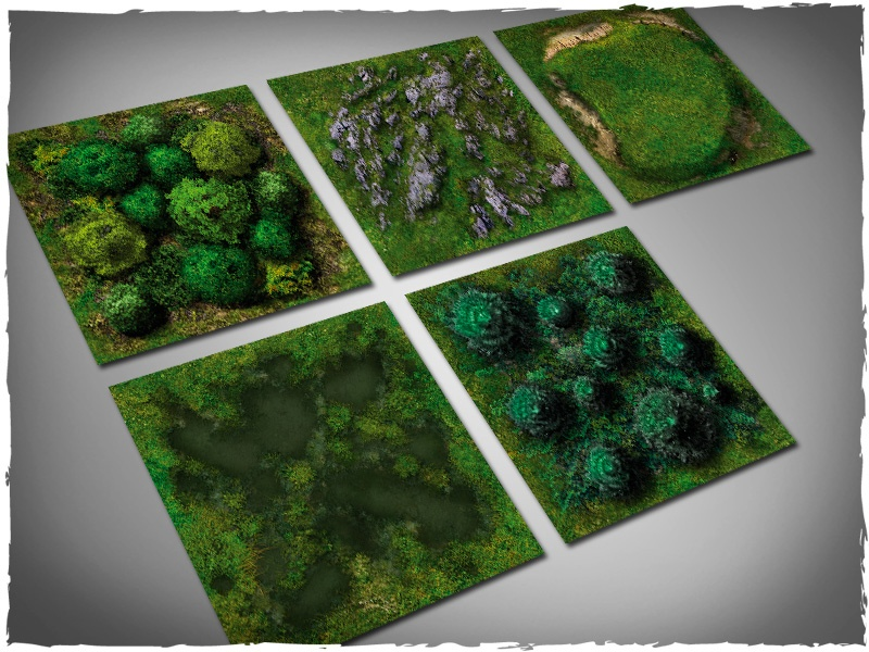 Deep Cut Studio Terrain Tile: Midland Nature Set