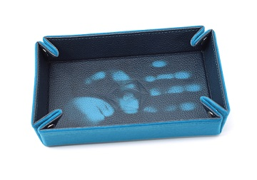 Die Hard: Folding Rectangle Heat Change Tray with Teal & Teal Velvet