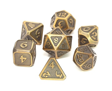 Die Hard: Metal Mythica Dice Set - Battleworn Gold