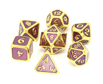 Die Hard: Metal Mythica Dice Set - Gold Amethyst