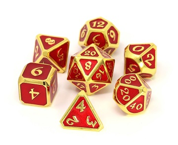Die Hard: Metal Mythica Dice Set - Gold Ruby