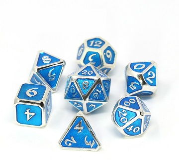 Die Hard: Metal Mythica Dice Set - Platinum Aquamarine