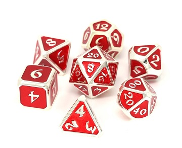 Die Hard: Metal Mythica Dice Set - Platinum Ruby