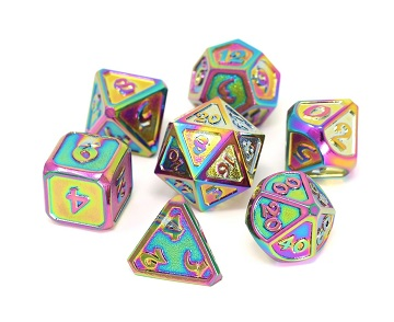 Die Hard: Metal Mythica Dice Set - Scorched Rainbow