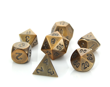 Die Hard: Metal RPG Dice Set - Battleworn Bronze