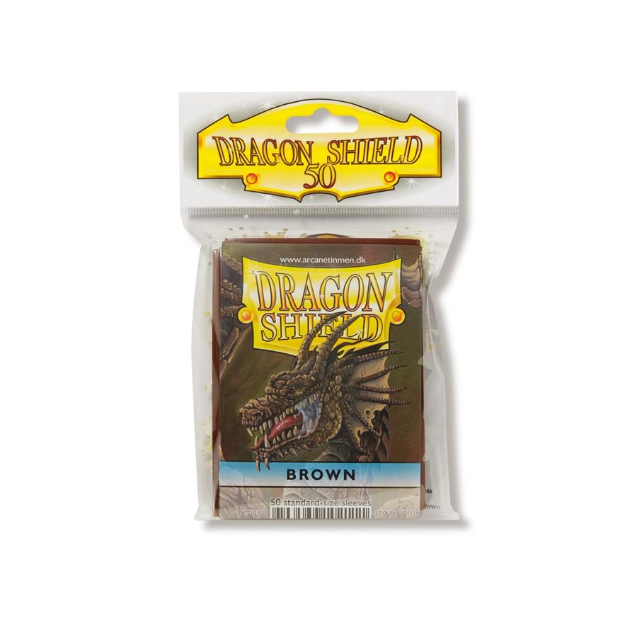 Dragon Shields - Card Sleeves (50): Brown
