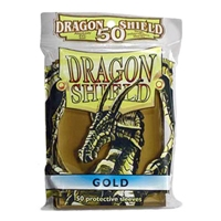 Dragon Shields - Card Sleeves (50): Gold