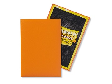 Dragon Shields: Japanese Size Matte Sleeves (60ct) - Orange