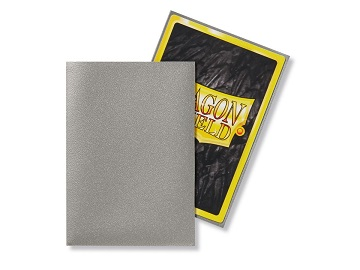 Dragon Shields: Japanese Size Matte Sleeves (60ct) - Silver