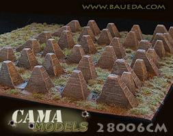 Cama Scenics: 28mm Terrain: Dragon Teeth