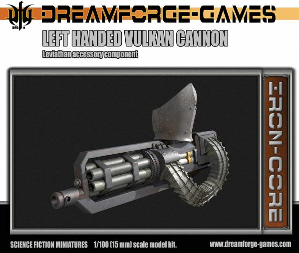 Dreamforge Games: Leviathan (15mm Version)- Left Handed Vulkcan Cannon